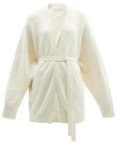 Raey Shawl Belted Cashmere Cardigan - Womens - Ivory