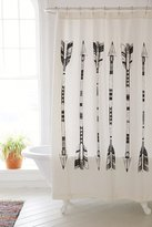Urban Outfitters 4040 Locust Black + White Arrows Shower Curtain