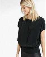 Express capped dolman sleeve blouson blouse