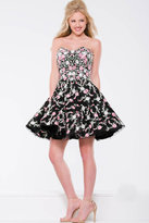 Jovani Strapless Floral Cocktail Dress JVN45269