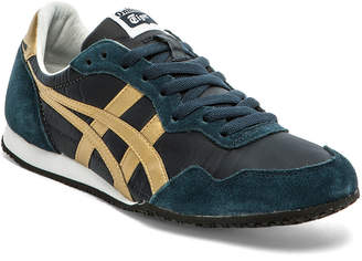 Onitsuka Tiger by Asics Serrano in Navy & Gold | FWRD