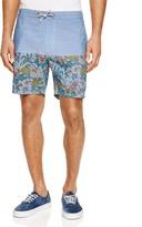 Barney Cools Tide Chambray Floral Print Shorts