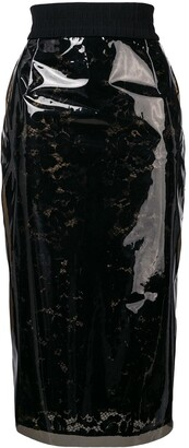 No.21 See-Through Lace Skirt