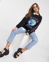 Asos Design DESIGN oversized sweatshirt with atlas print
