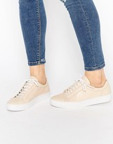 Vagabond Zoe Leather Nude Lace Up Sneakers