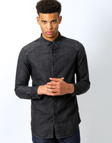 G Star G-Star Revend Clean Print Shirt Long Sleeve Black Shatter Black