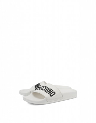 Moschino Pvc Sandal Slide With Logo