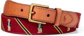 Ralph Lauren Polo Bear–overlay Webbed Belt
