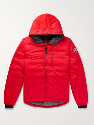 Canada Goose Lodge Slim-Fit Nylon-Ripstop Hooded Down Jacket - Men - Red
