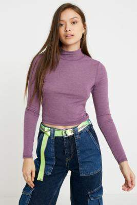 Urban Outfitters Cosy Funnel Neck Top - grey XS at