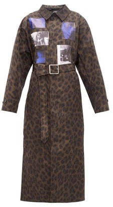 Raf Simons Animalier Leopard-print Belted Technical Coat - Leopard