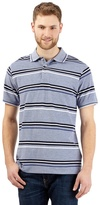 Maine New England Big And Tall Navy Striped Print Polo Shirt
