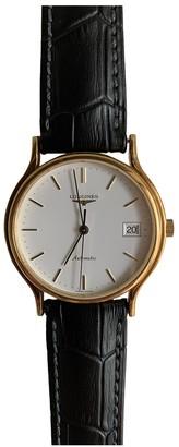 Longines Presence Black Yellow gold Watches