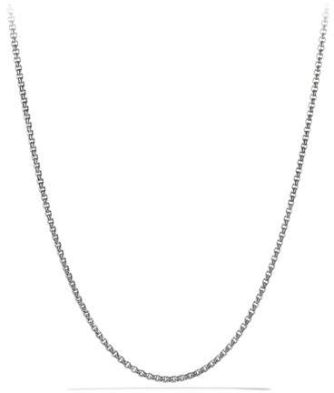 "David Yurman Small 22""L Titanium & Sterling Silver Box Chain"