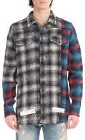 Off-White Mixed-Flannel Plaid Shirt