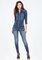 Bebe Denim Traveler Jumpsuit