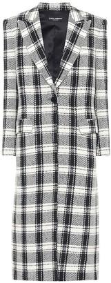 Dolce & Gabbana Checked wool-blend coat
