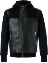 Neil Barrett layered hooded jacket