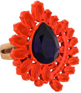 Mawi Neon Orange Flower Ring