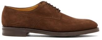John Lobb Cleve Suede Derby Shoes - Mens - Brown
