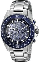 Michael Kors Men's 'Jet Master' Japanese Automatic Stainless Steel Casual Watch, Color:Silver-Toned 9024