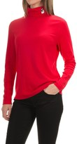 Jones New York Mister Snowman Turtleneck - Long Sleeve (For Women)