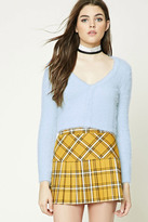 Forever 21 FOREVER 21+ Cropped Fuzzy Knit Cardigan