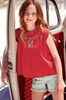 Next Girls Light Wash Embroidered Denim Shorts (3-16yrs)