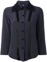 Marc Jacobs embroidered collar shirt - women - Silk - 4