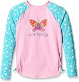 Hatley Little Girls Electric Butterfly Rash Guard