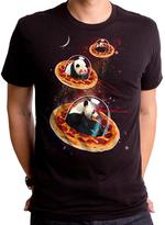 Goodie Two Sleeves Black Invader Pandas on Pizza Tee - Men's Regular