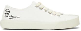 Maison Margiela White Canvas Tabi Sneakers