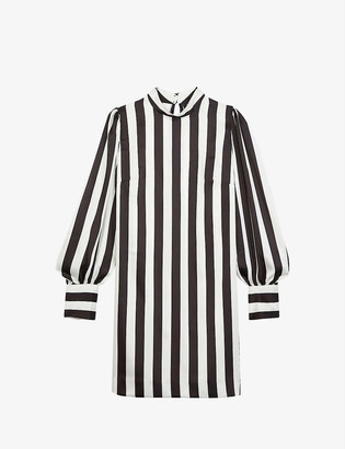 The Kooples Striped woven dress