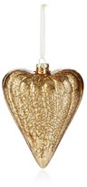 Bloomingdale's Glitter Gold Glass Heart Ornament