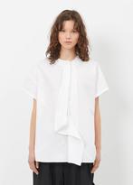 Yohji Yamamoto white drape s-sleeve