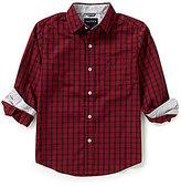 Nautica Big Boys 8-20 Checked Woven Long-Sleeve Shirt