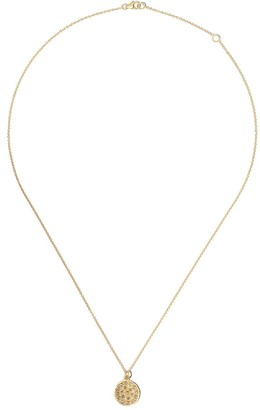 Brooke Gregson 14kt yellow gold mini Mars diamond pendant necklace
