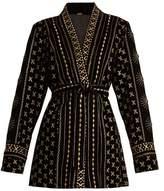 DODO BAR OR Sendy embroidered velvet kimono jacket