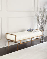 John-Richard Collection Huggins Tufted Leather Bench