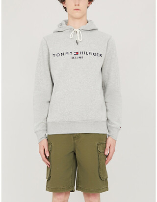 Tommy Hilfiger Logo-embroidered cotton-blend hoody