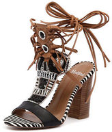 Mollini New Firestorm Black Tan Multi Womens Shoes Dress Sandals Heeled