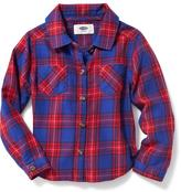 Old Navy Plaid Pocket Shirt for Toddler Girls