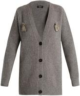 Rochas Brooch-embellished wool cardigan