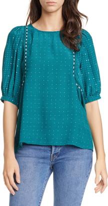 Dolan Wynonna Foulard Short Sleeve Blouse