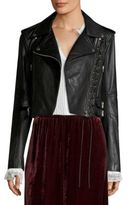 McQ by Alexander McQueen Lace-Up Leather Moto Jacket