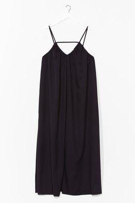 Nasty Gal Womens V-Neck and Call Relaxed Maxi Dress - Black