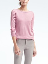 Banana Republic Silk Cotton Boat-Neck Top