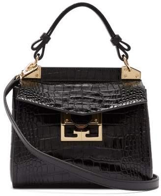 Givenchy Mystic Mini Croc-embossed Leather Shoulder Bag - Womens - Black