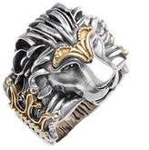 Konstantino Men's Carved Lion Ring