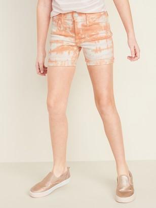 Old Navy Tie-Dyed Frayed-Hem Jean Midi Shorts for Girls